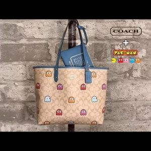 Coach Pac-Man Reversible Ghost Tote